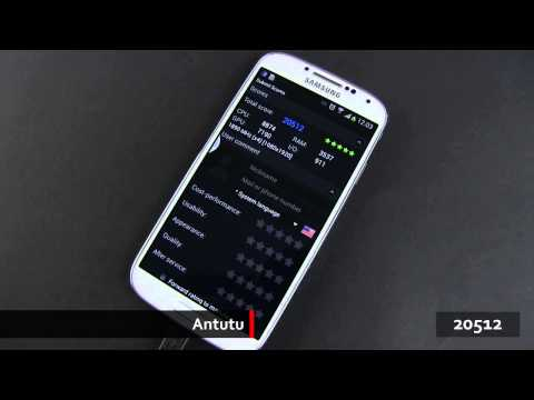 Samsung Galaxy S4 Benchmark test and Speed test