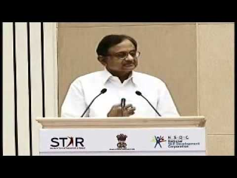 Finance Minister Shri P Chidambaram at the launch of the STAR scheme