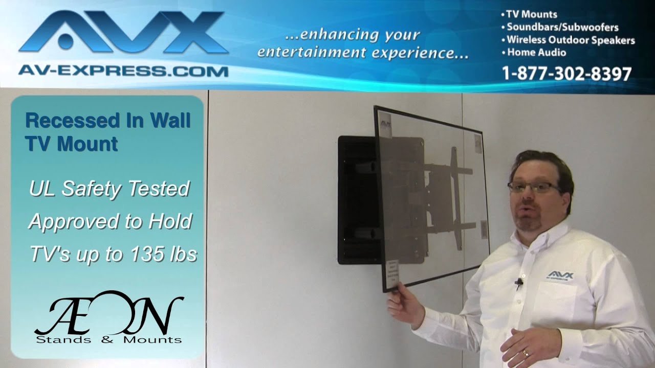 In Wall Tv Mount Recessed Tv Wall Mount Low Profile W