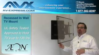 In Wall TV Mount • Recessed TV Wall Mount • Low Profile w Long Arm