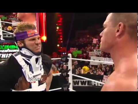WWE Raw John Cena Zack Ryder Kane Eve Segment