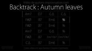 Autumn leaves / Les feuilles mortes (120 bpm) : Backing track