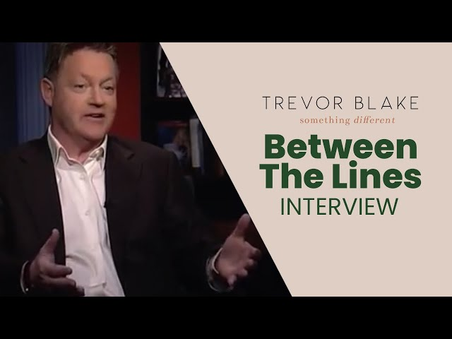 Barry Kibrick host of Between The Lines Interviews Trevor G Blake
