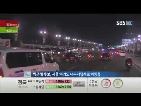 Korean president-elect Park Geun-hye motorcade live coverage