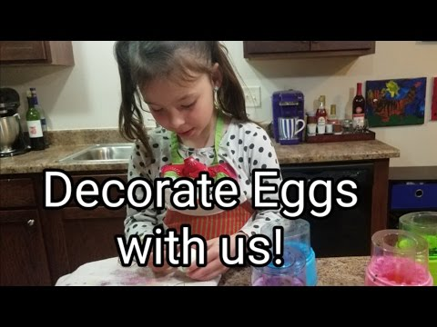Decorating Easter Eggs With Crayons - Using Cool Whip To Decorate Eggs, Coloring Easter Eggs
