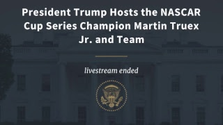President Trump Hosts the NASCAR Cup Series Champion Martin Truex Jr. and Team