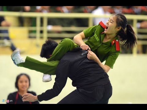 Vietnamese Police show off Marital Arts