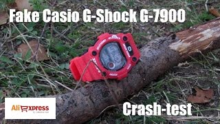 Стресс-тест копии Casio G-7900 \ Fake Casio G-7900 stress test