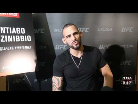 Santiago Ponzinibbio on Gunnar Nelson 'Im Ready for war' at UFC Fight Night Glasgow
