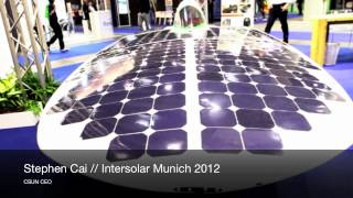 CSUN Media Center - Stephen Cai/CSUN CEO - Interview 2012/Intersolar Munich