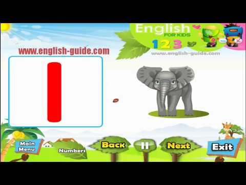 تعليم الاطفال الانجليزية - تعليم الارقام 123