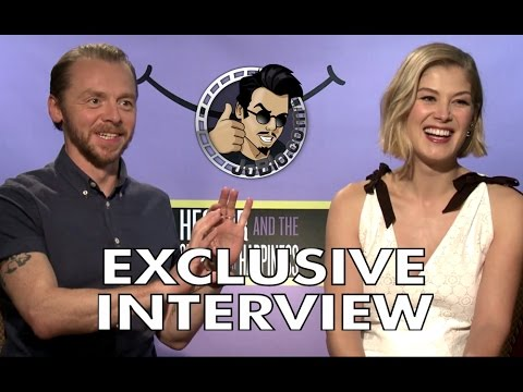 Simon Pegg and Rosamund Pike Interview - Hector and the Search for Happiness (2014) Comedy Movie HD