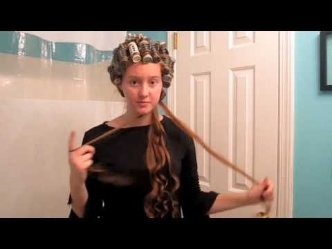Long Curly Hairstyle Part 1 (Apostolic Hair) - YouTube