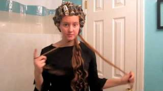 Long Curly Hairstyle Part 1 (Apostolic Hair) 08:38
