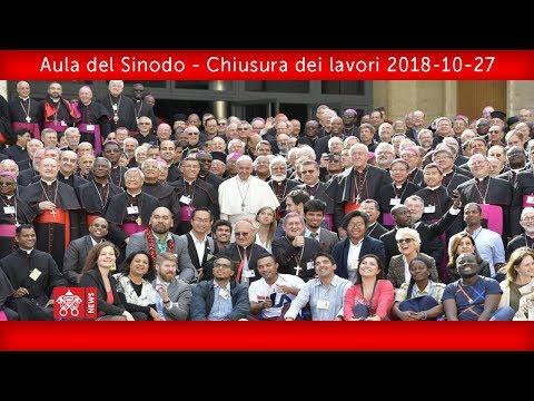 Aula del Sinodo - Chiusura dei lavori della XV Assemblea Generale Ordinaria del Sinodo dei Vescovi