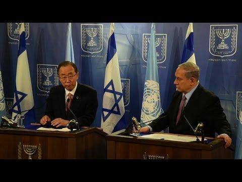 UN chief tells Israel, Palestinians: 'Stop Fighting'