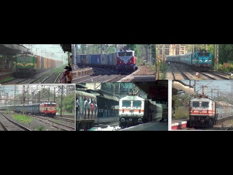 A Must See ! Compilation Of All 12 Electric Locomotives Serving Indian Railways Network video