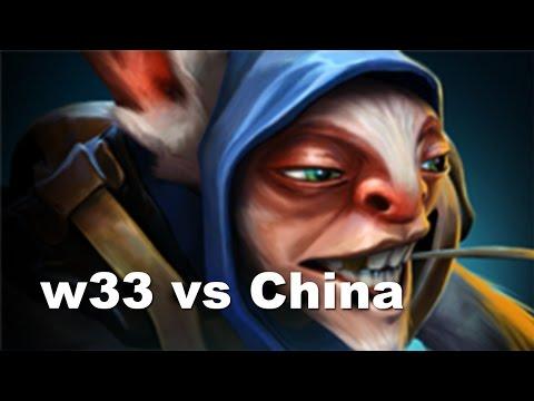 w33 Meepo Romania vs Newbee China Almost 1v5 Dota 2