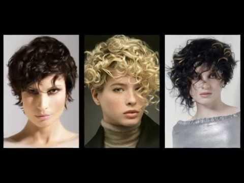 Прическа на вьющиеся волосы  видео 79