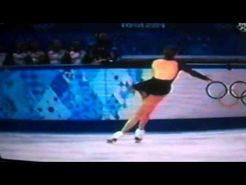 Carolina Kostner skates ladies free skate at Olympic games - Sochi 2014