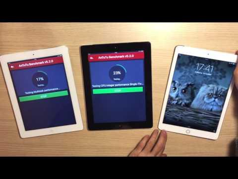ВЕЛИКОЕ Сравнение iPad 2, iPad 4 и iPad Air 2