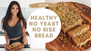 EASY HEALTHY OAT BREAD | Guilt-Free Vegan Delicious Bread Recipe No Yeast