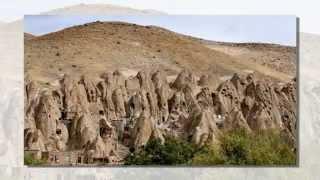 Современный пещерный поселок Кандован (Kandovan, Iran)