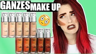 GANZES Make Up NUR mit FOUNDATIONS? das geht?! FULL FACE makeup Tutorial I Luisacrashion