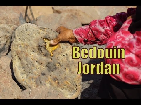 Visiting a Bedouin Home to drink coffee, tea and eat bread inside of the tent in Jordan (بَدَوِي)