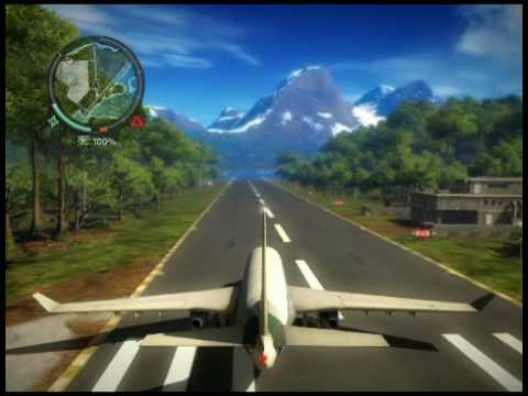 18 just cause 2 course l 39 a roport international gameplay avec un avion de ligne youtube. Black Bedroom Furniture Sets. Home Design Ideas