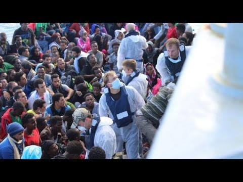 Royal Navy Ships Rescue Hundreds Of Migrants