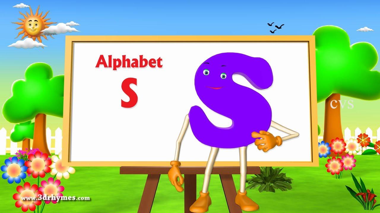 S Alphabet 3d Letter S Song - 3D Animation