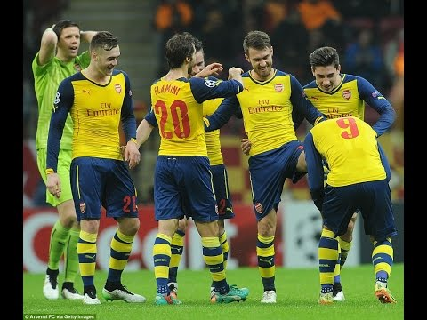 Ramsey Goals - Galatasaray vs Arsenal 1-4 All Goals & Highlights Champions League 2014