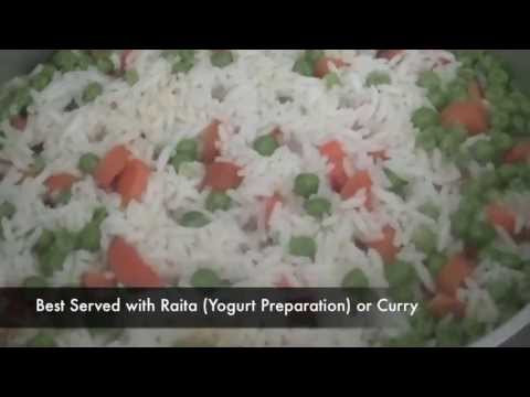 Recipe for Carrot and Peas Pilaf (Pulao), Indian Rice Recipe