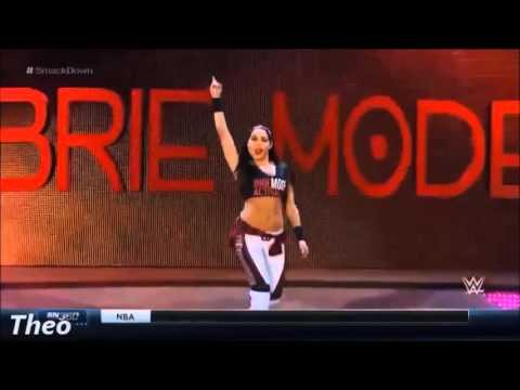 WWE Brie Bella entrance 2015