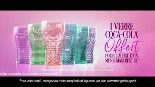 Pub Mcdonald Le retour des verres Coca Cola l'amour de vacances