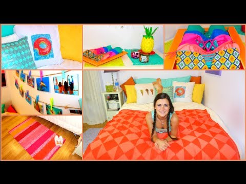Diy summer room makeover decorations more youtube for Room decor ideas summer
