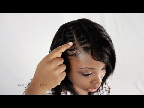 Sew In Weave For Invisible Part Extensions on African American Hair Tips & Advice Tutorial Part 4