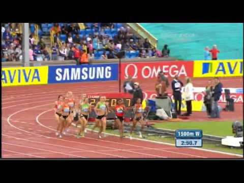 Women's 1500 m Diamond League Aviva Birmingham Grand Prix 2011