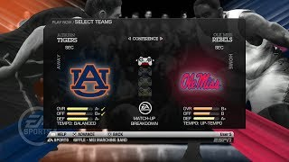 NCAA Basketball 10 (Rosters Updated for 2018 2019 Season) Auburn vs Ole Miss