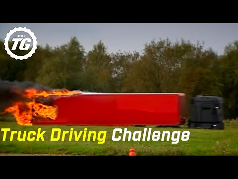 Truck Driving challenge part 2: Alpine Course Race - Top Gear - BBC