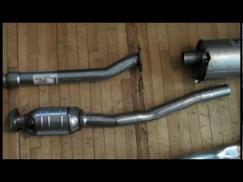 Exhaust repair on a 1986 Volvo 240 - YouTube