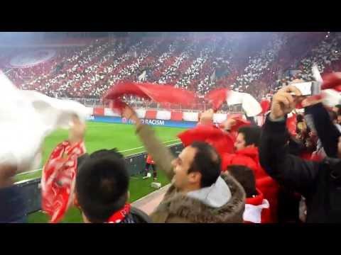"""Ολυμπιακός-Μάντσεστερ Γ. 2-0 """"Γ.Καραϊσκάκης"""" (Olympiacos-Manchester United) 25/2/2014"""