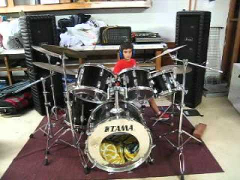 6-year-old drummer plays Grant Green