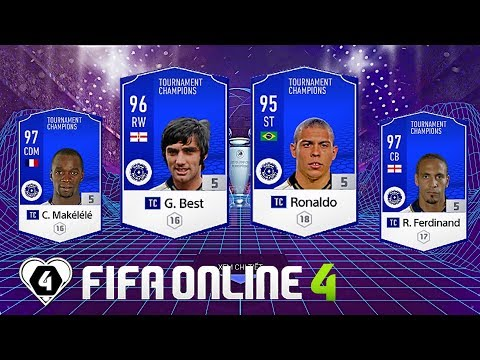 FIFA ONLINE 4: TEST DÀN FULL TC Vs Ronaldo BÉO TC - Makelele TC - G. Best TC & Rio Ferdinand TC