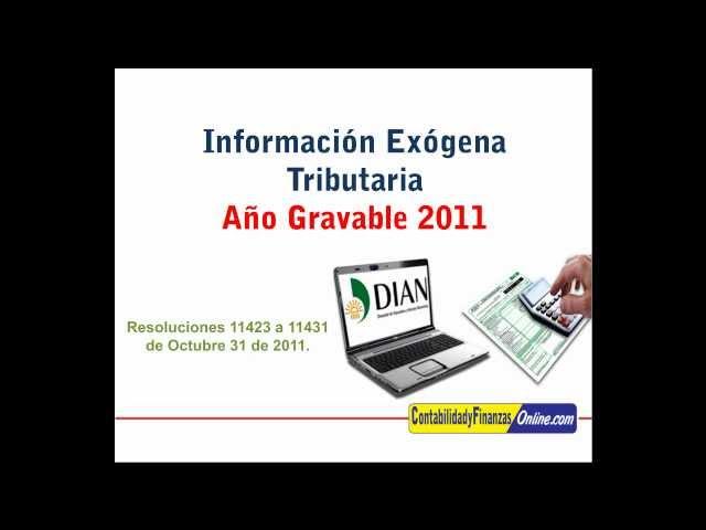 Información Exógena Año Gravable 2011