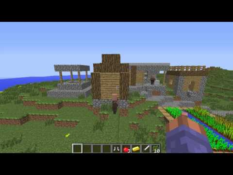 Epic flat land, npc village island Minecraft seed 1.5.2