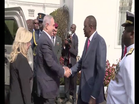 Benjamin Netanyahu in Kenya for a three day State visit
