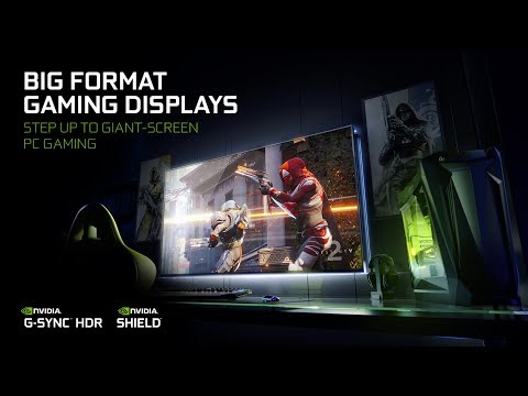 "BIG FORMAT GAMING DISPLAYS with NVIDIA G-SYNCâ""¢ and SHIELDâ""¢ BUILT-IN"