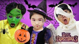 할로윈 페이스페인팅 놀이 해봤어요! 몬스터 호텔 3 친구들과 여름휴가를 떠나봐요! 어린이 애니메이션 영화 Halloween Kids Makeup